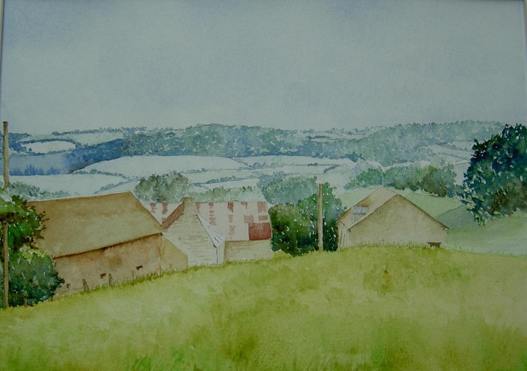 Dordogne. Watercolour. 51x41cm incl mount_edited-1