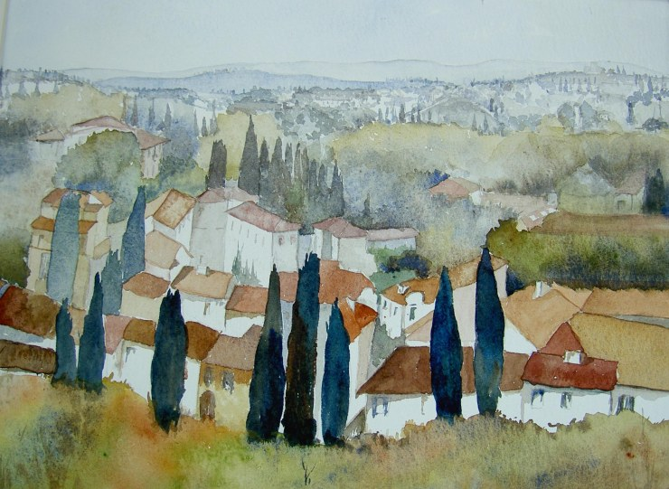 Tuscan Landscape Watercolour 53x43cms incl frame_edited-1
